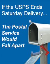 If the USPS Ends Saturday Delivery.... The Postal Service Would Fall Apart